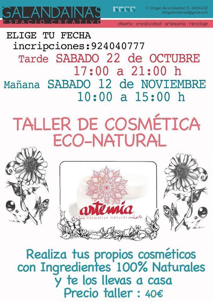 Normal taller de cosmetica eco natural en badajoz