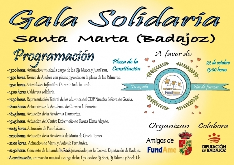 Normal gala solidaria a favor de fundame