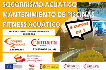 Cartel curso socorrista acu tico mantenimiento de - Curso mantenimiento de piscinas ...