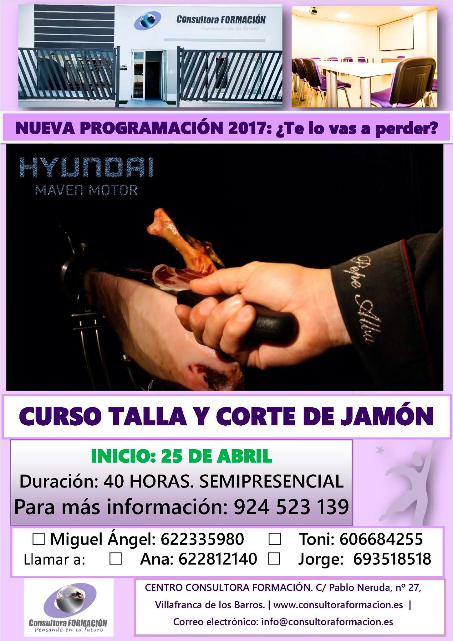 Cartel consultora formaci n villafranca de los barros for Cursos de cocina en badajoz