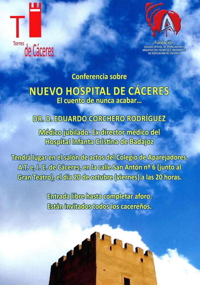Conferencia el nuevo hospital de c ceres jornada en for Pisos nuevos en caceres