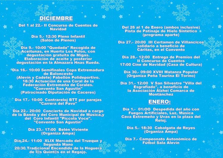 Programa Lúdico y Cultural Navidad Valdefuentes 2017 - Infantil en ...