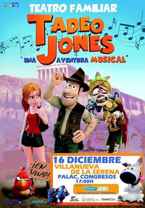 """Tadeo Jones una aventura musical"" en Villanueva de la Serena"