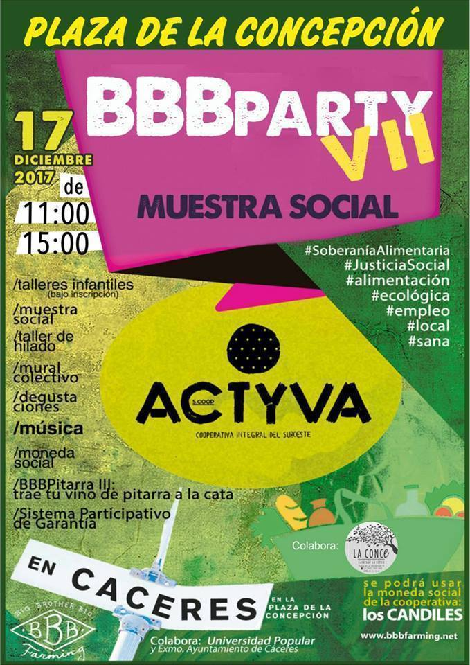 BBBParty & Muestra Social - Cáceres