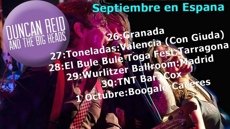 'Duncan Reid and The Big Heads' en Concierto - Cáceres