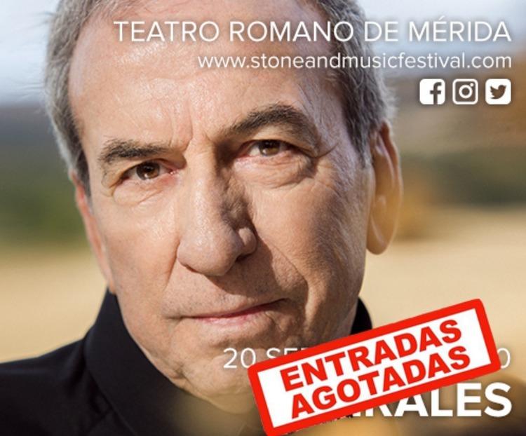 Concierto de José Luis Perales en Mérida - Stone & Music Festival 2020