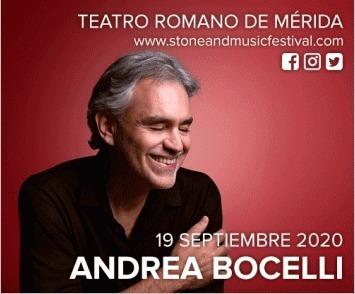 Concierto de Andrea Bocelli en Mérida - Stone & Music Festival 2020
