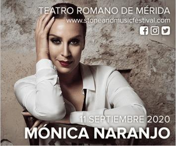 Concierto de Mónica Naranjo en Mérida - Stone & Music Festival 2020