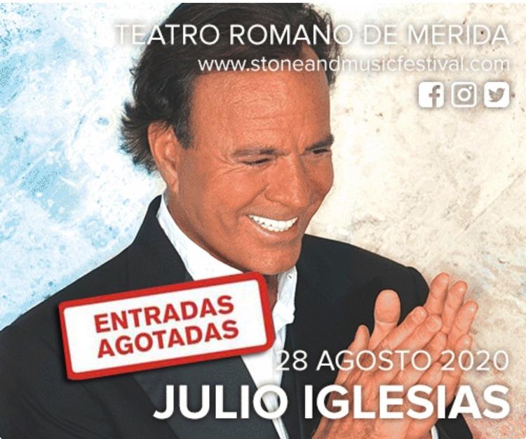 Concierto de Julio Iglesias en Mérida 2020 ( Extremadura - España)
