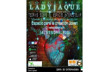 Cartel concierto ladyjaque ecj almendralejo 3 5 19 normal 3 2