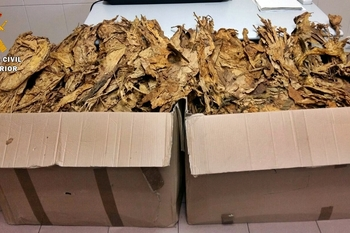La Guardia Civil interviene 40 kilos de tabaco semipicado procedente de contrabando