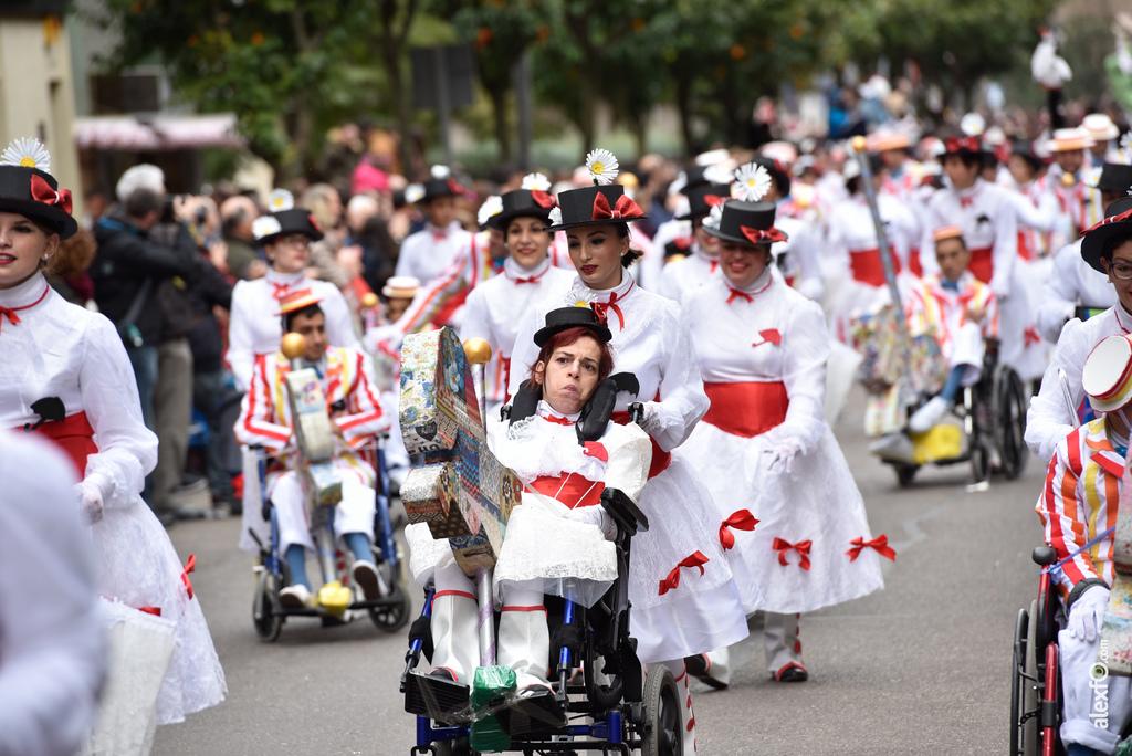 Comparsa Colorido sobre Ruedas (ASPACEBA) - Desfile de Comparsas Carnaval de Badajoz 2018